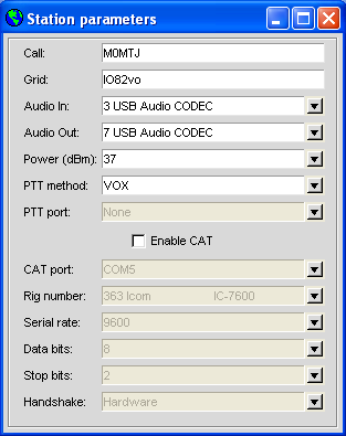 Setting up an Icom IC-706mk2g for WSPR with Tigertronics